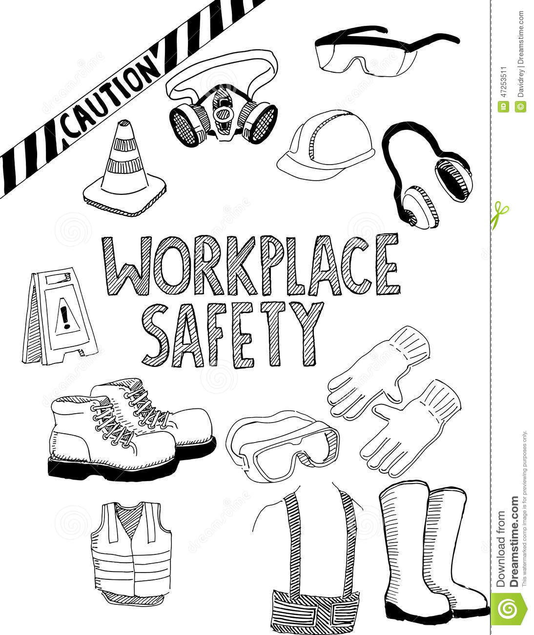 Workplace Safety Gear Stock Vector Illustration Of Gear