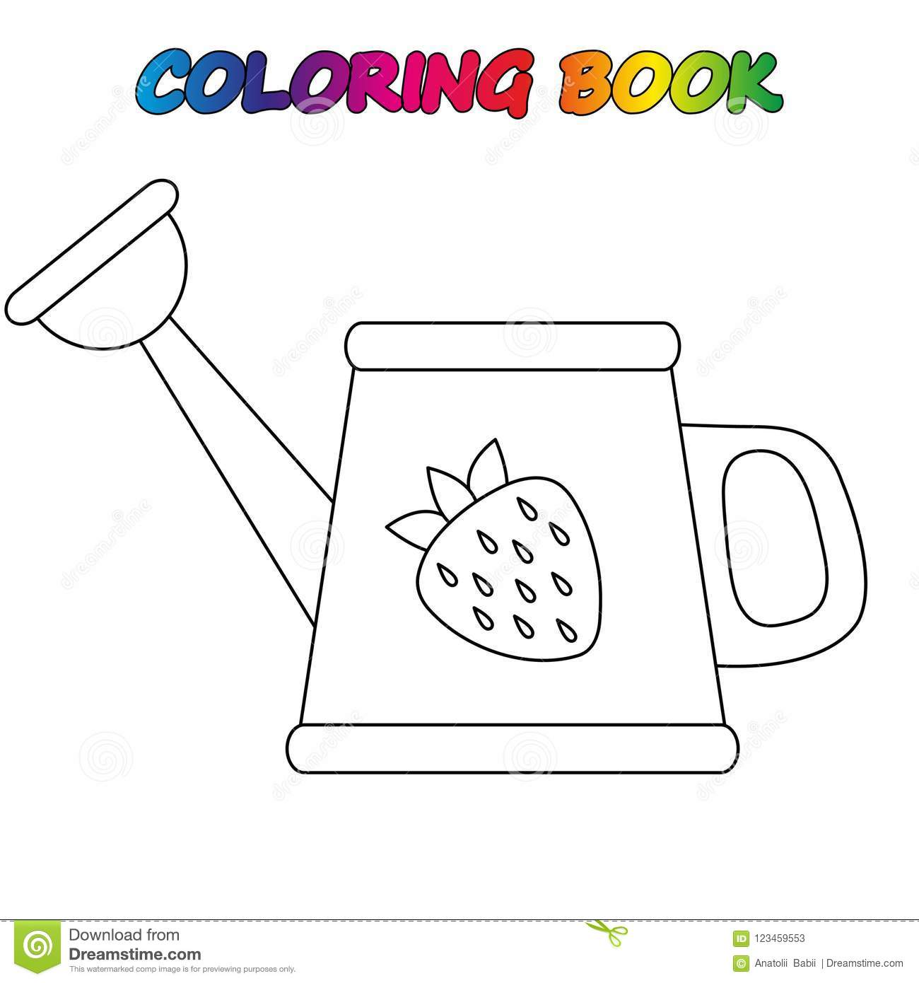 Coloring Page Worksheet Game For Kids