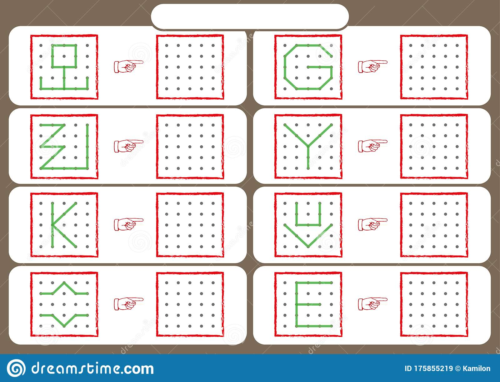 Worksheet For Preschool Kids Dot To Dot Copy Practice