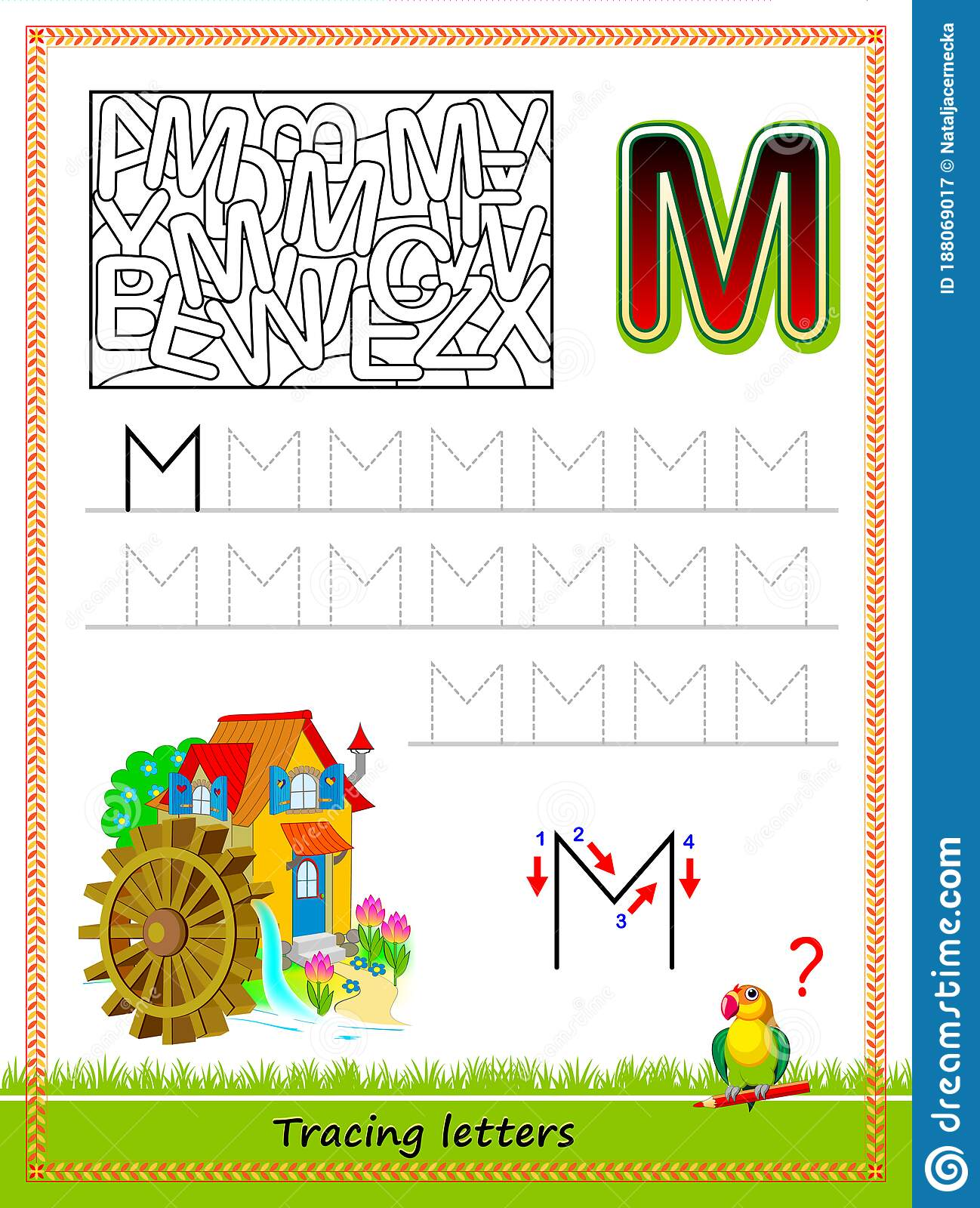 Worksheet For Tracing Letters Find And Paint All Letters