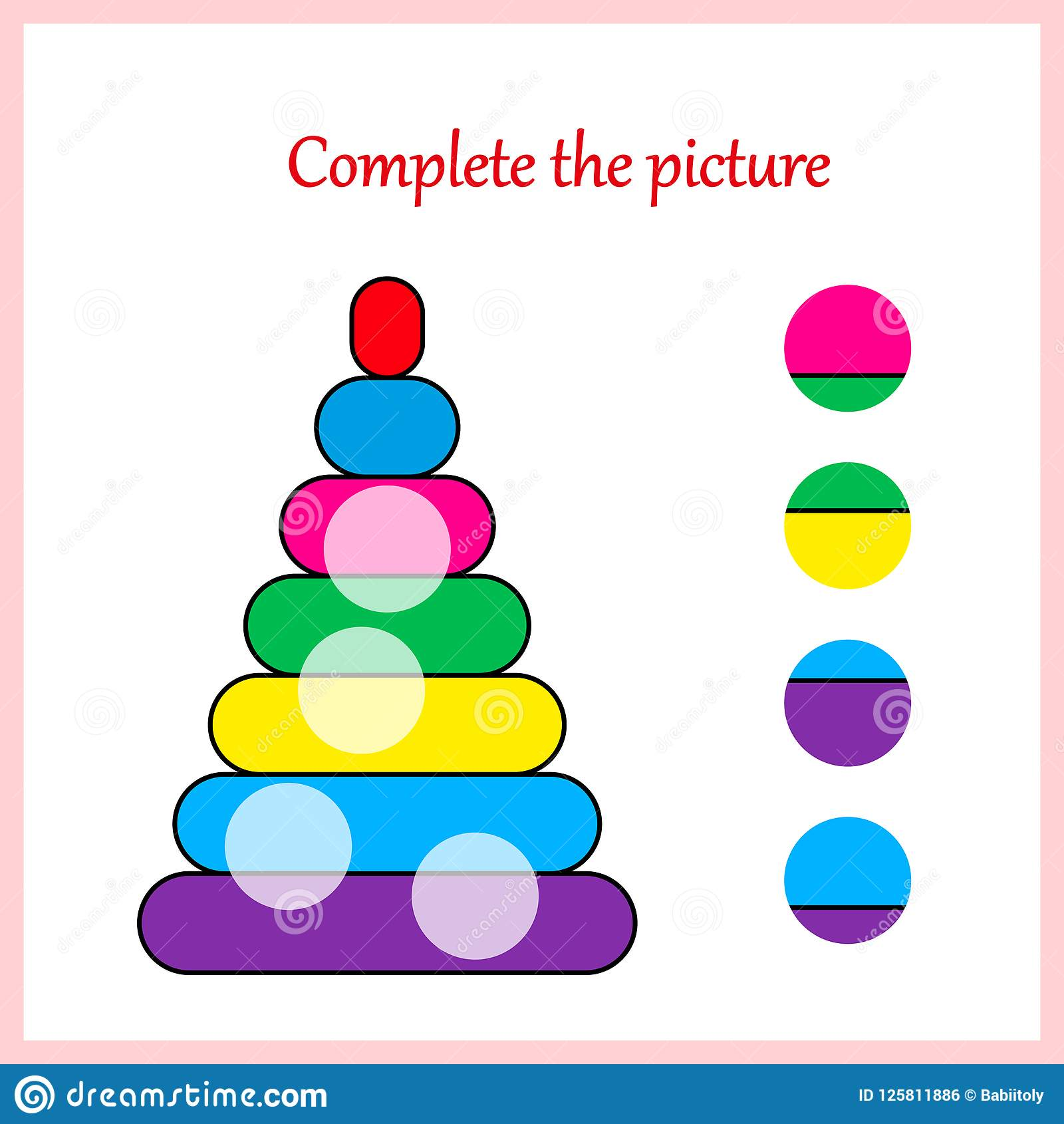 Worksheet Visual Logic Puzzle Find Missing Piece