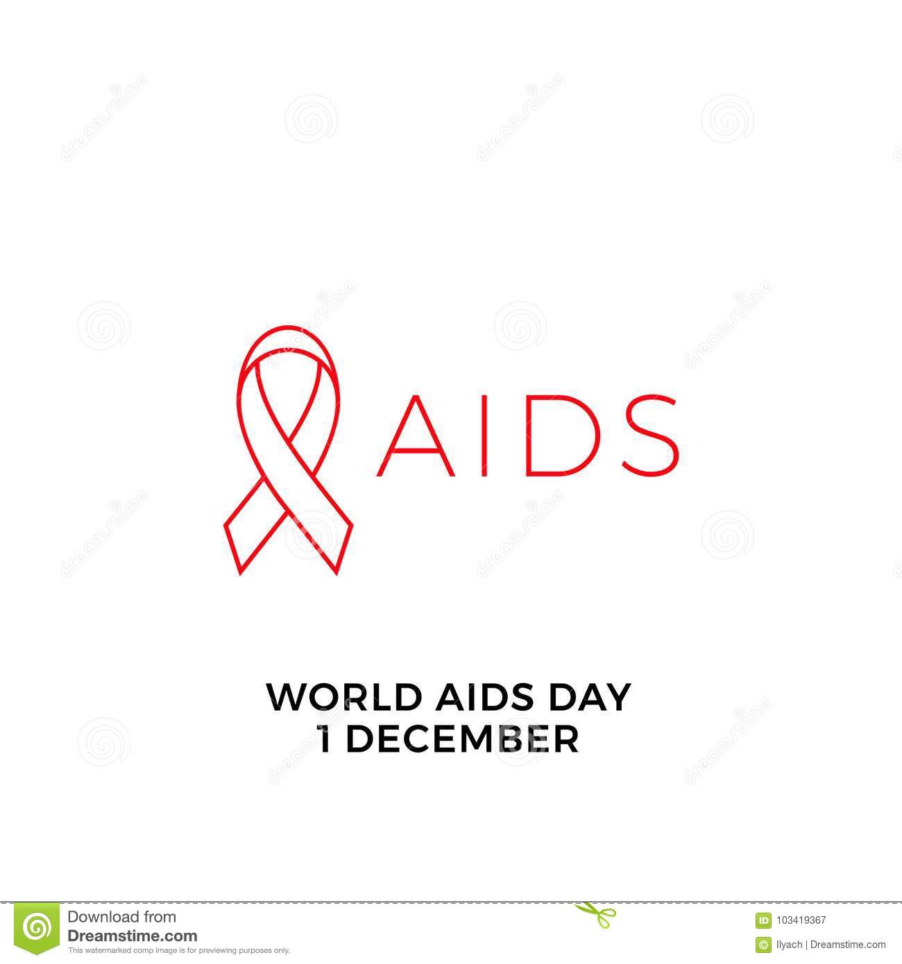 World Aids Day Red Ribbon Icon For 1 December Hiv And Aids