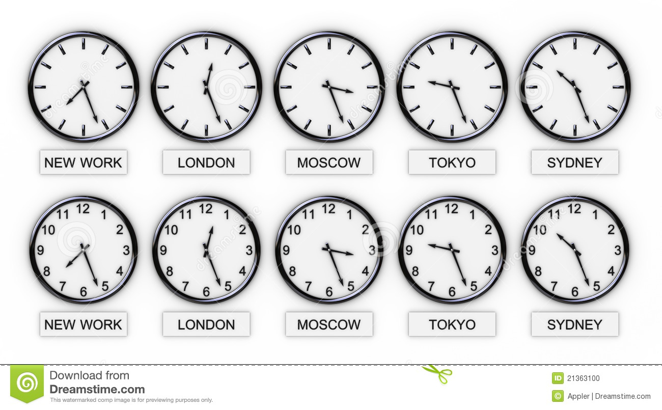 World Clocks Time Stock Photo