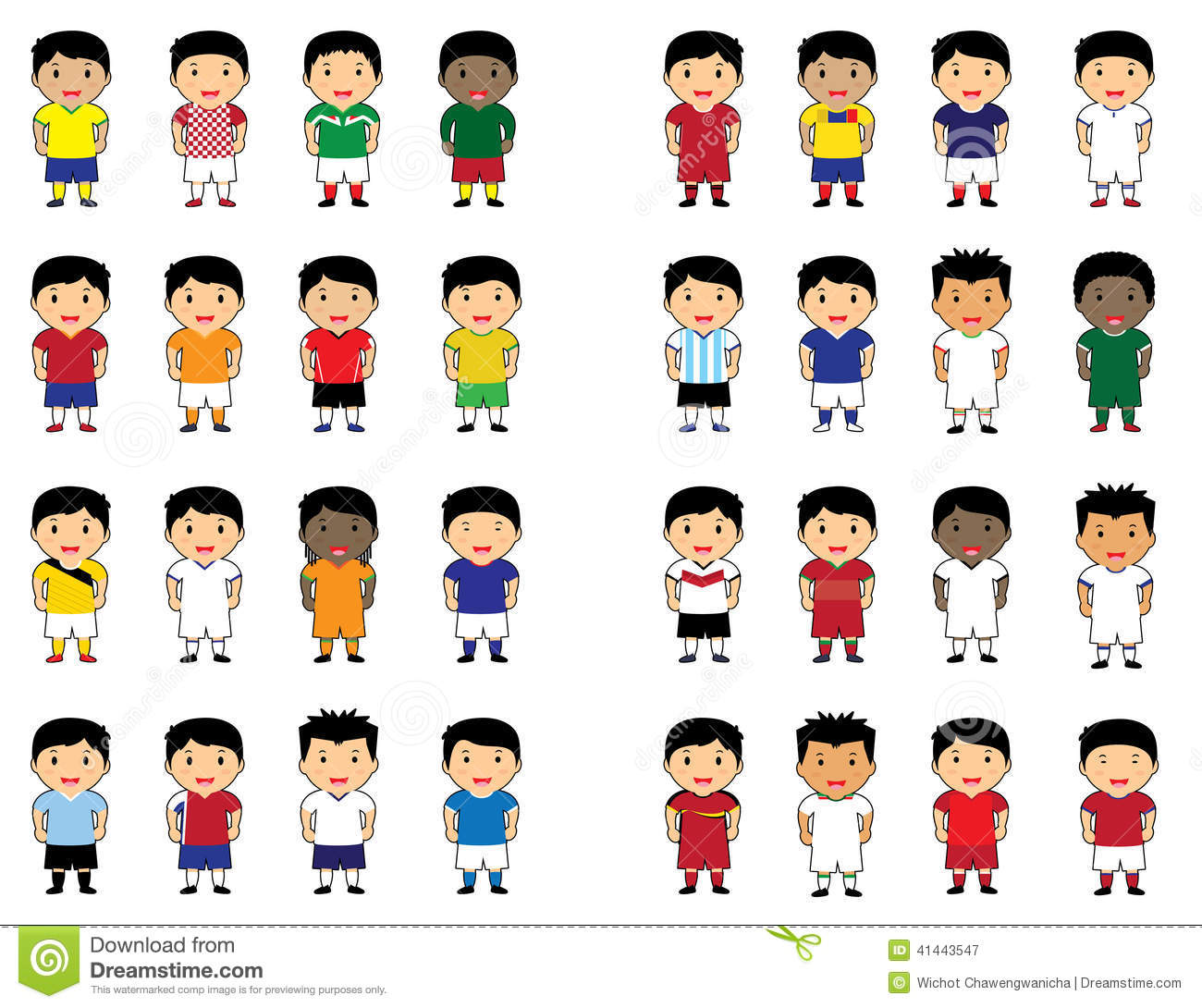 World Cup Cartoon Cute Stock Vector Illustration Of Icon