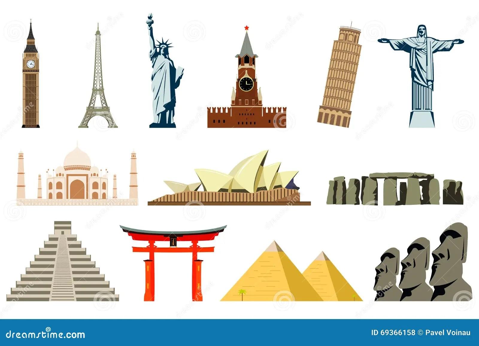 World Landmarks Vector Stock Vector