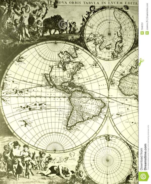 World Map Old Antique Stock Image Image 7048751
