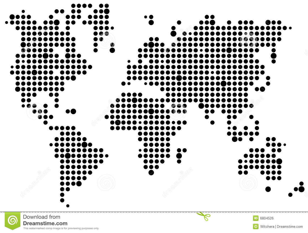 World Pixel Map Royalty Free Stock Image
