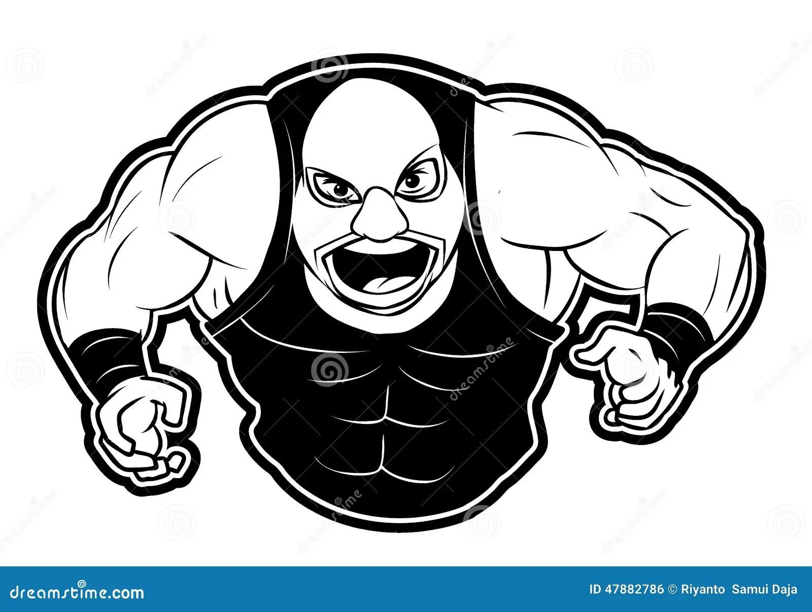 Wrestler Stock Vector Illustration Of Cartoon Clip
