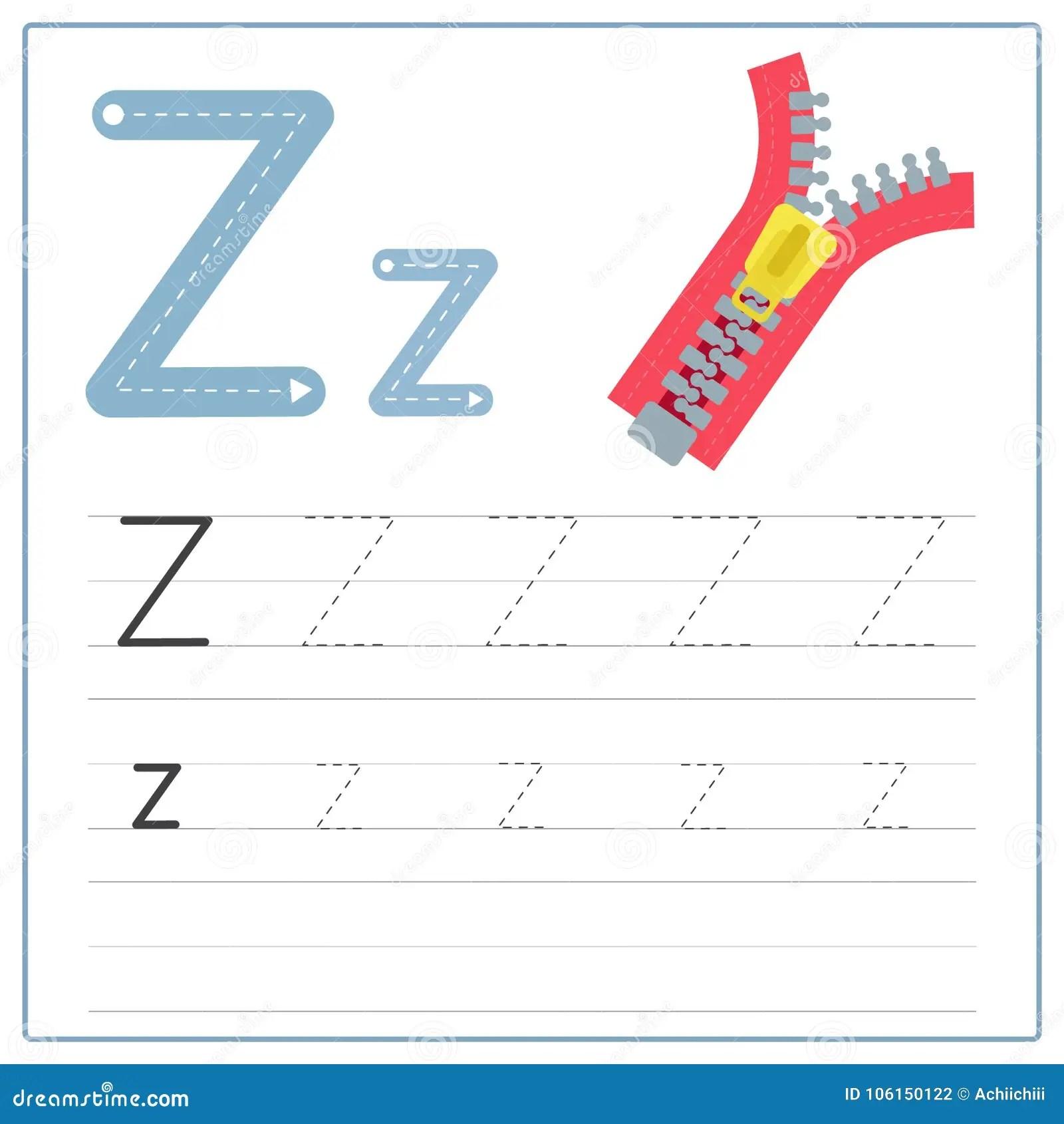 Writing Card Alphabet Z Stock Illustration Illustration