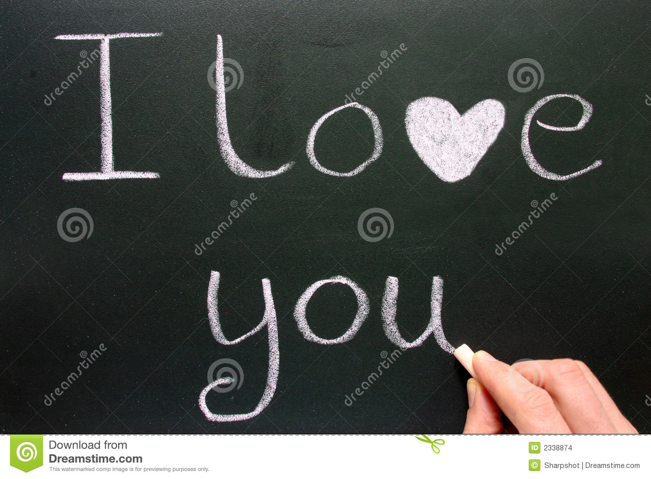 Writing I Love You Stock Images
