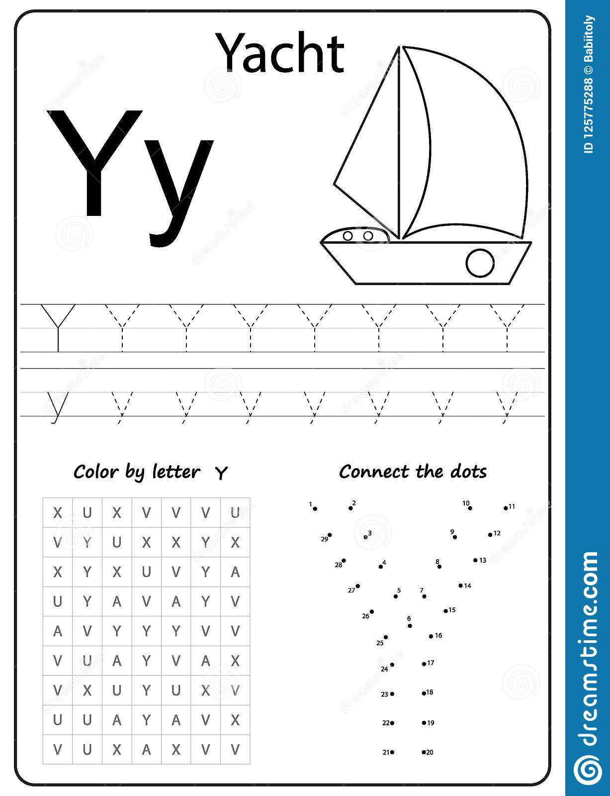 Writing Letter Y Worksheet Writing A Z Alphabet Exercises Game For Kids Stock Vector