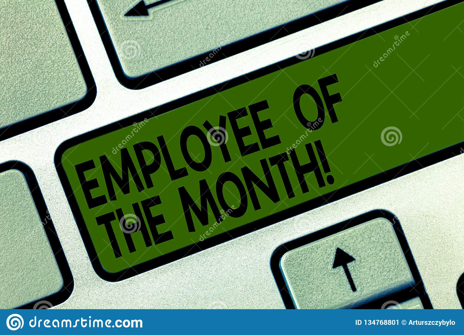 Writing Note Showing Employee Of The Month Business Photo