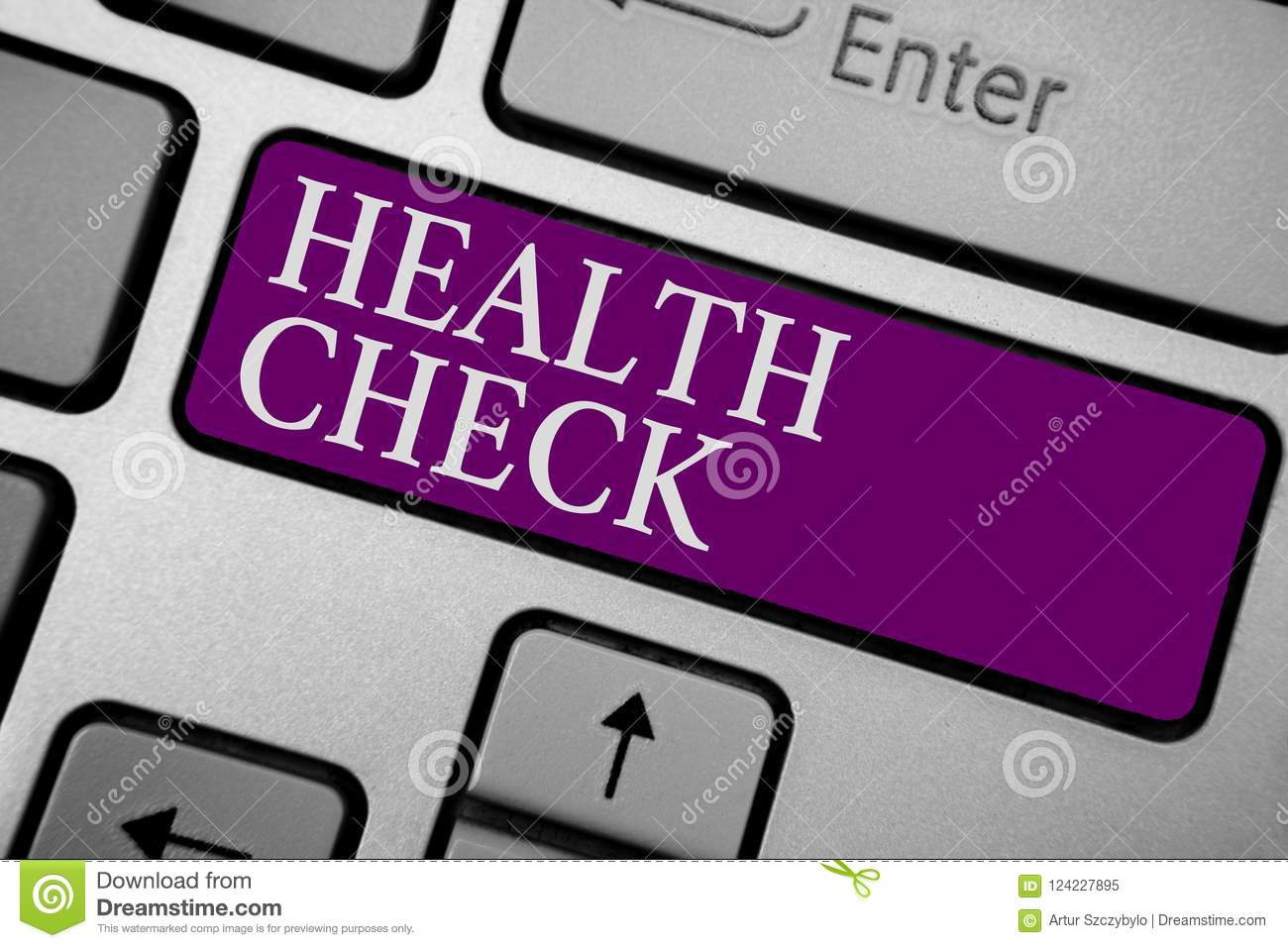 Writing Note Showing Health Check Business Photo