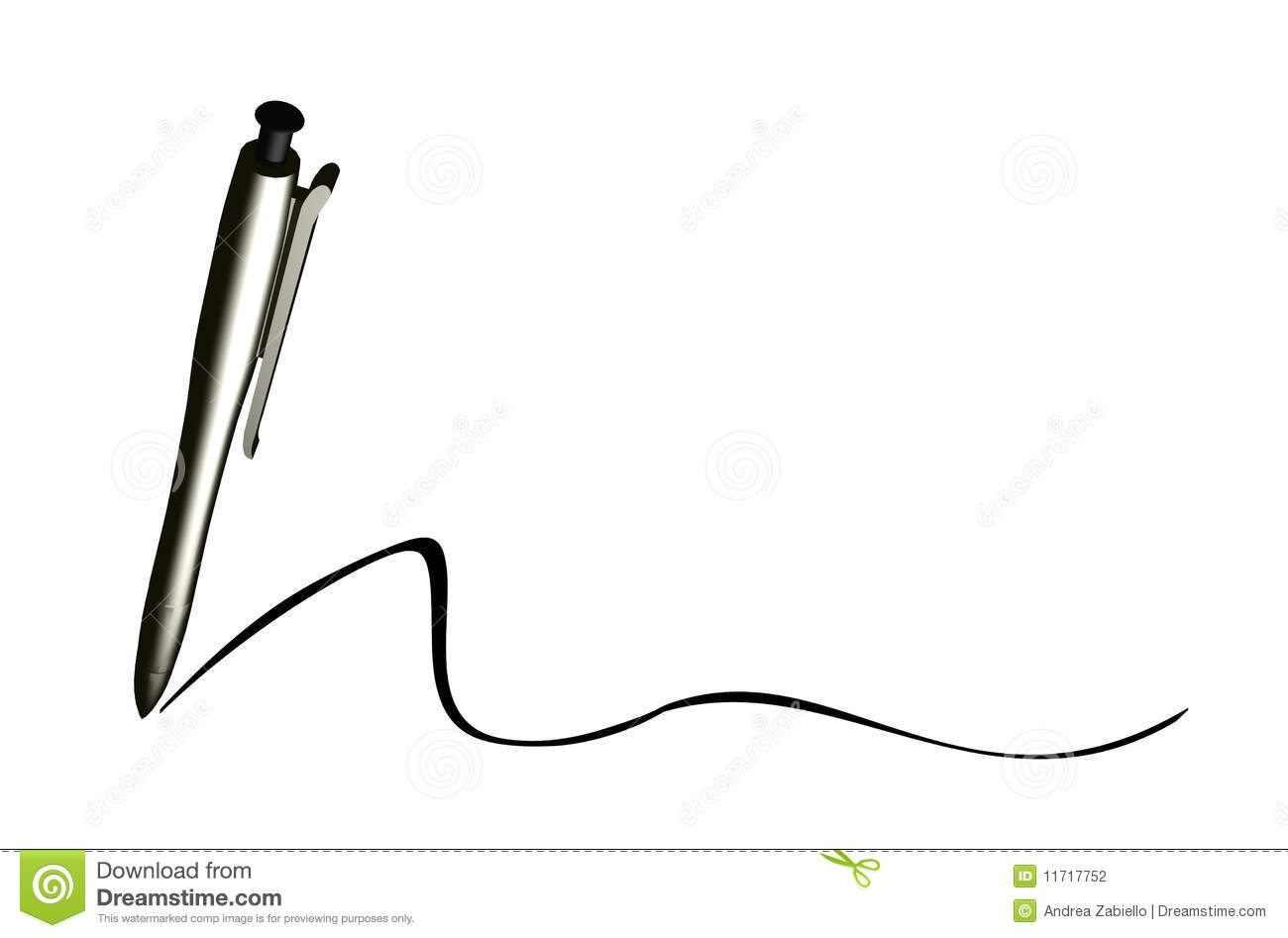 Writing Pen Sign Stock Illustration Illustration Of