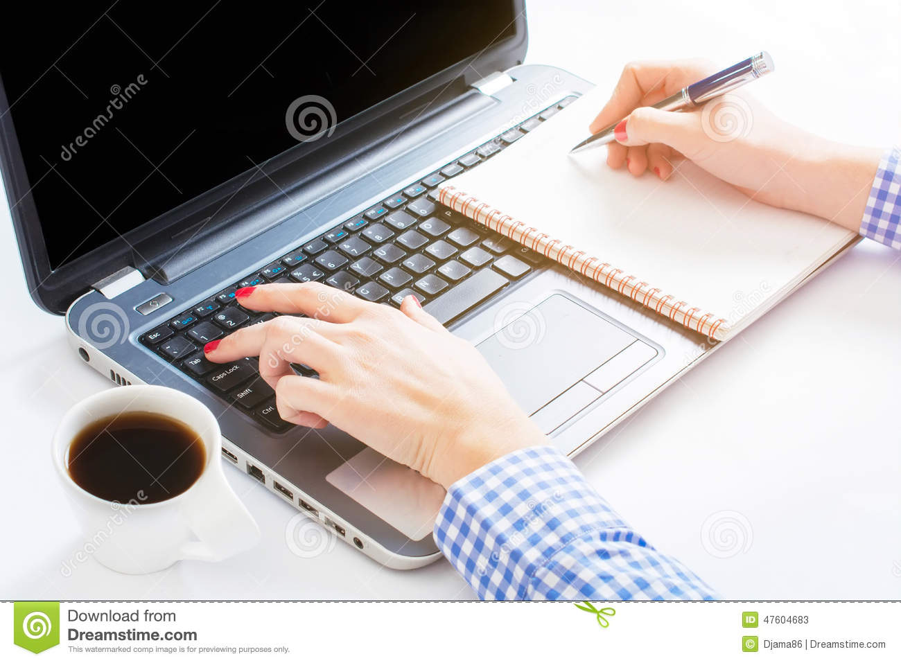 Writing And Typing Stock Image Image Of Internet Device
