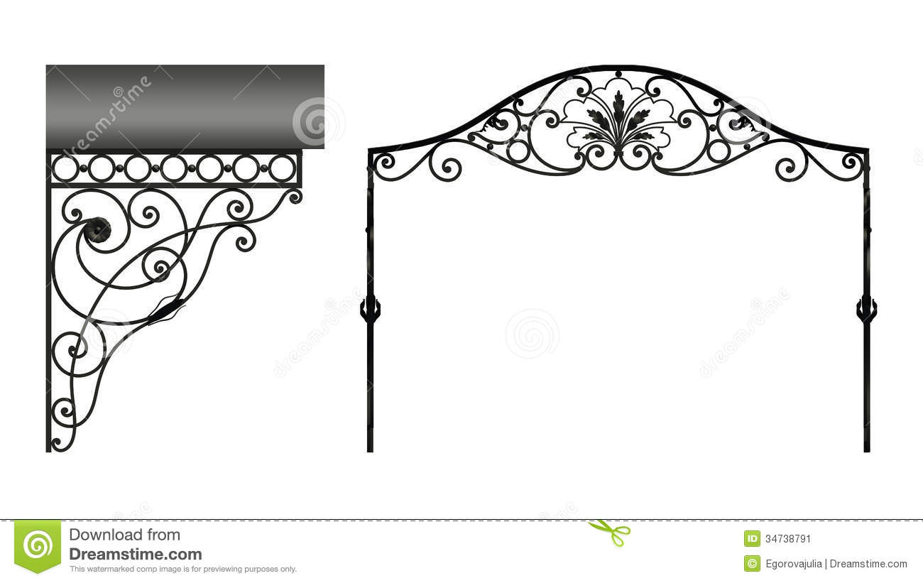 Wrought Iron Canopy Stock Image