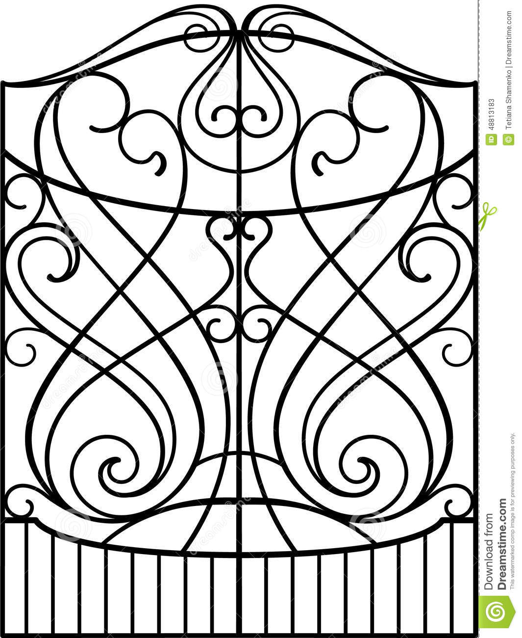 Spiral Gate Stock Image