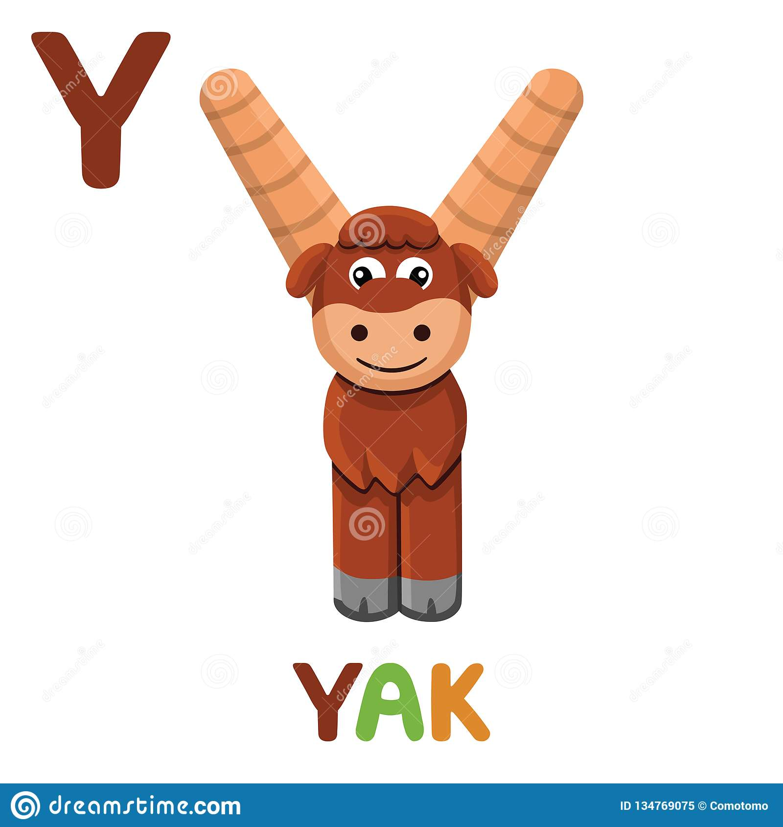 Y Is For Yak Letter Y Yak Cute Illustration Animal
