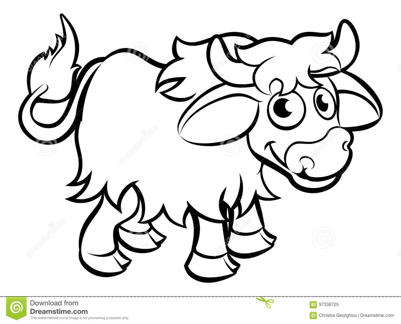Yak Cartoon Character Stock Vector Illustration Of