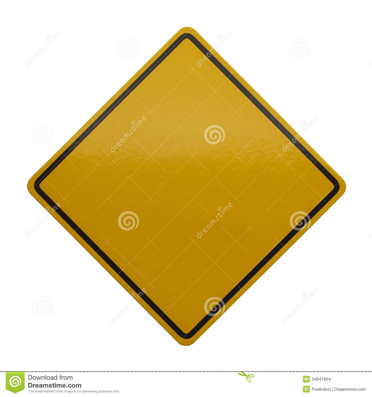 Yellow Caution Sign Stock Photo Image Of Concepts Symbol