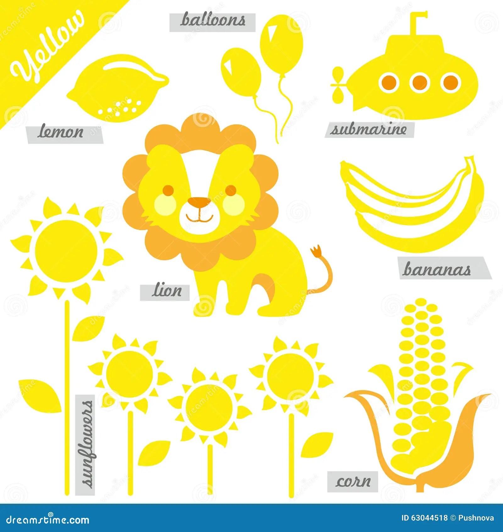 Yellow Stock Vector Illustration Of Kindergarten Infants