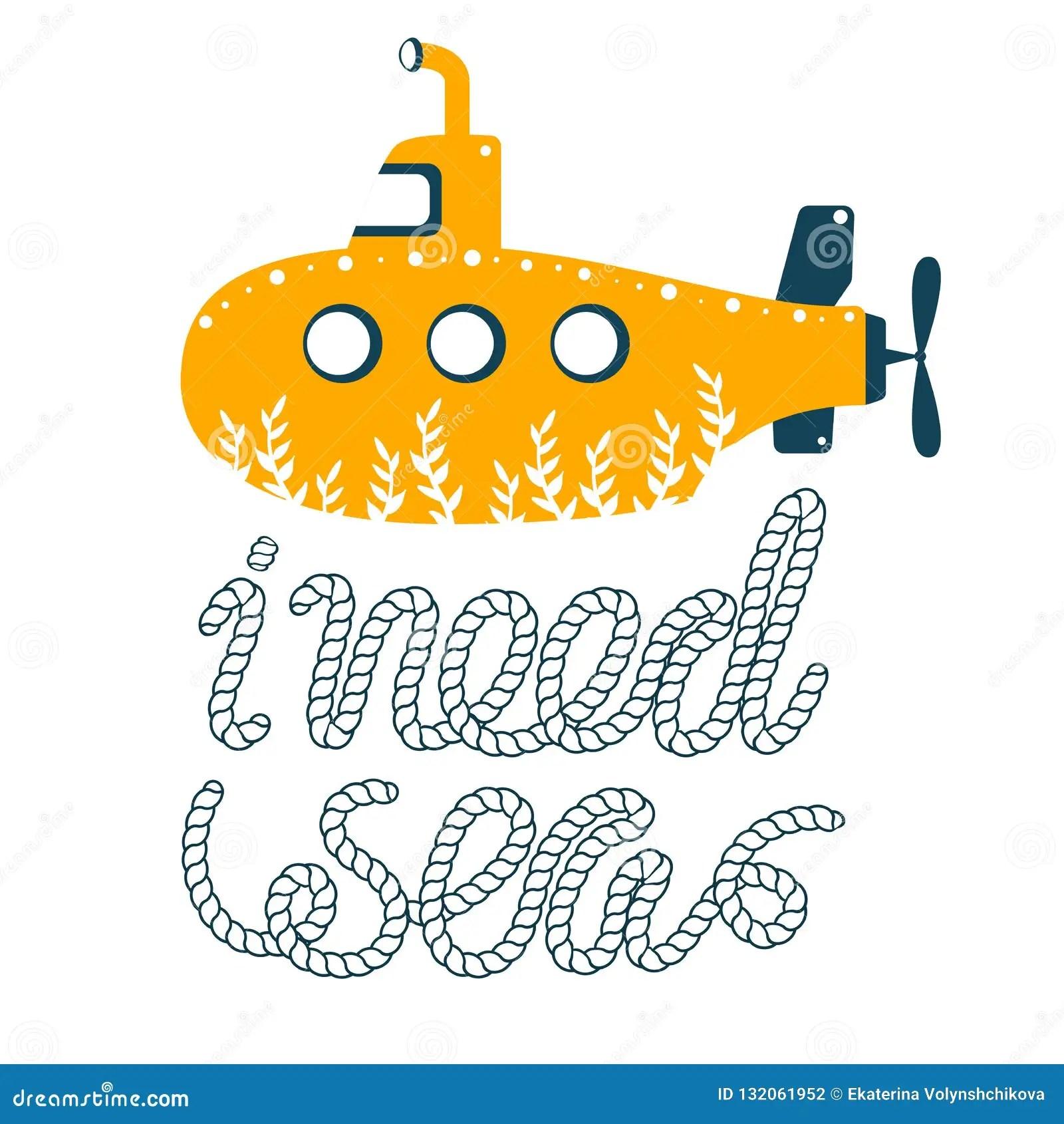 Yellow Submarine Vector Illustration