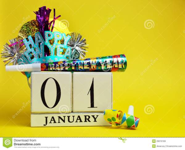 Yellow Theme Save The Date Calendar For New Year, January ...
