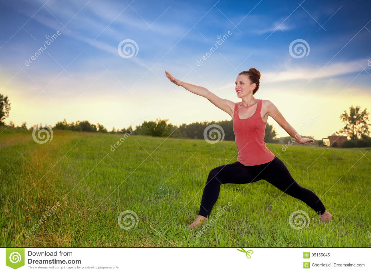 Yoga Poses For Stronger Body Stock Image