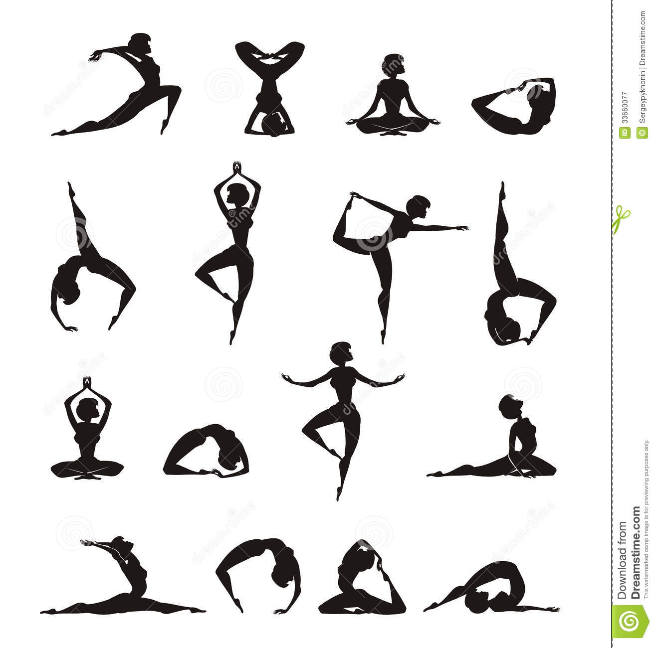 Yoga Silhouette Of Girl Royalty Free Stock Photography