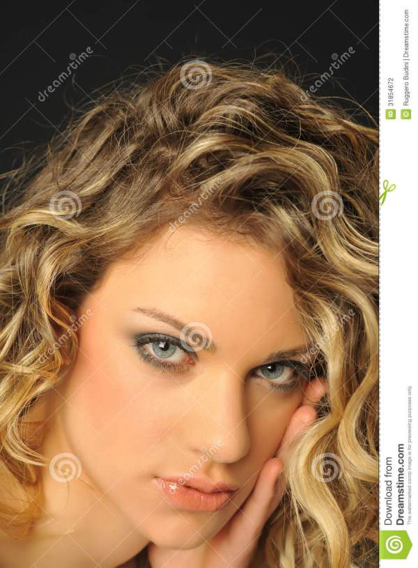 You like my hair? stock photo. Image of blondie ...