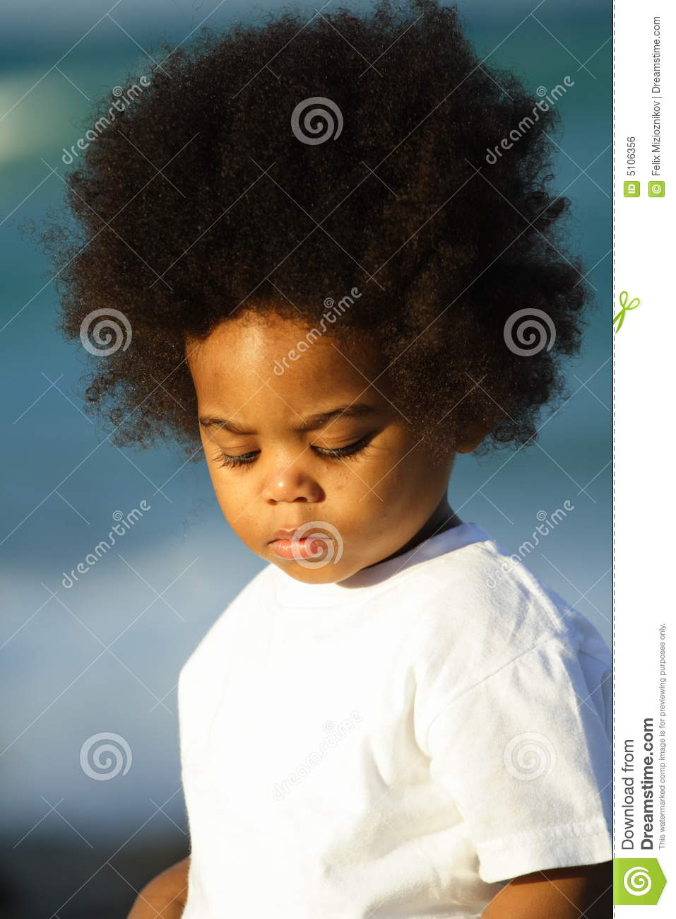 Young Boy With Afro Hairstyle Royalty Free Stock Image