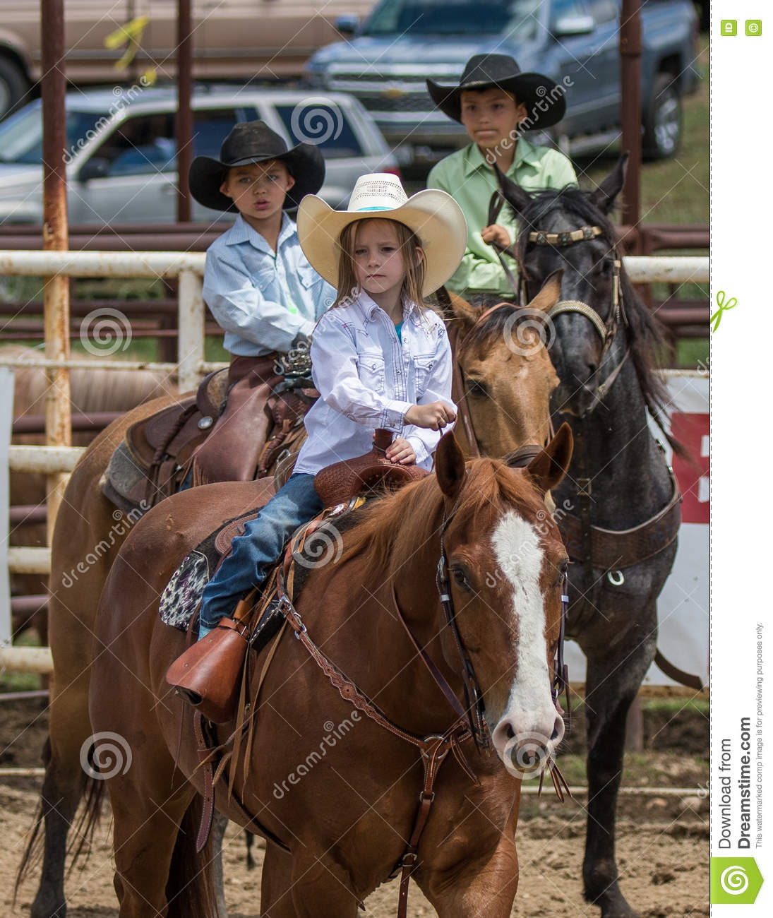 Young Cowboys And Cowgirl Editorial Image Image Of