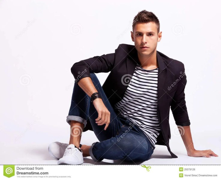 Young Fashion Man Sitting Relaxed Stock Photo   Image of caucasian     Young fashion man sitting relaxed