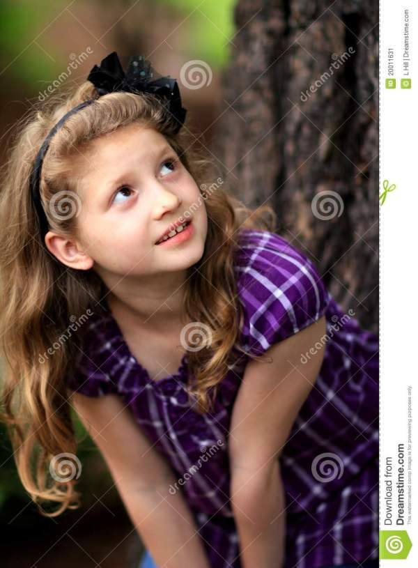 Young Girl Pretty Long Blond Hair Stock Image - Image ...
