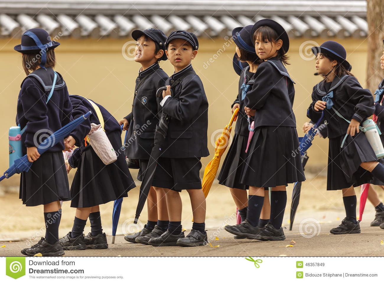 Young Japanese Pupils Editorial Stock Image Image Of