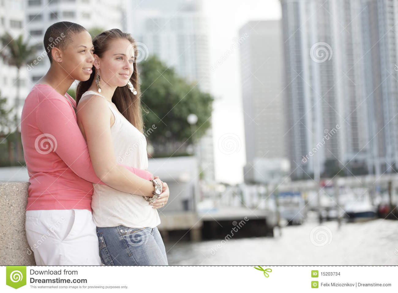 Young Lesbian Couple Stock Photo Image Of Black