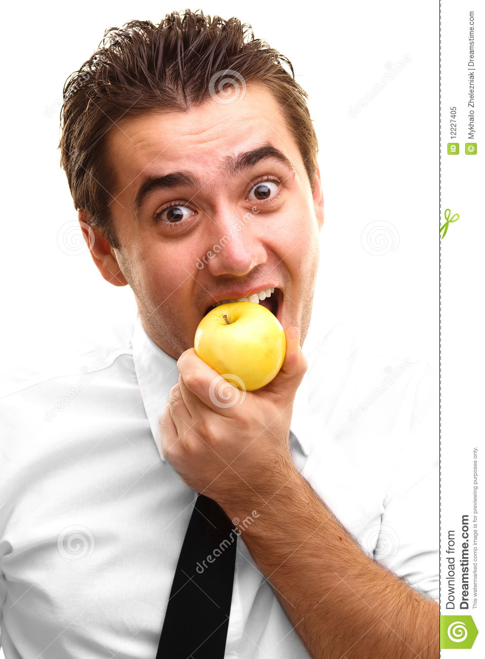 Young Man Eating Apple Royalty Free Stock Photo Image