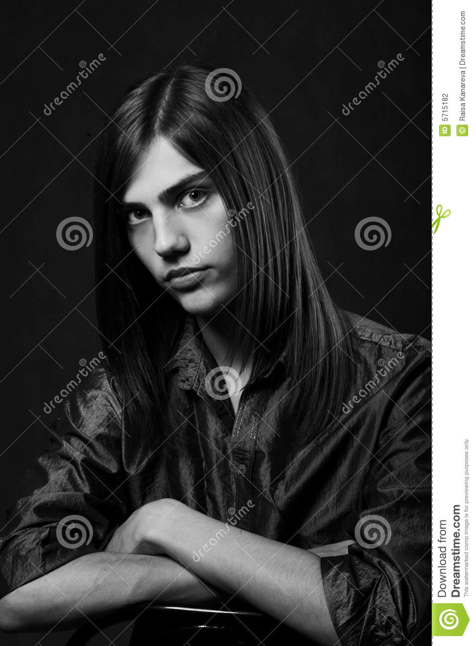 Young Man With Long Hair Stock Photography Image 5715182