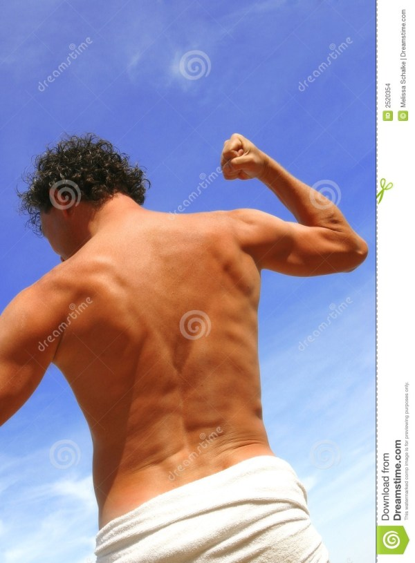 Young Man Stretching His Arms Stock Images - Image: 2520354
