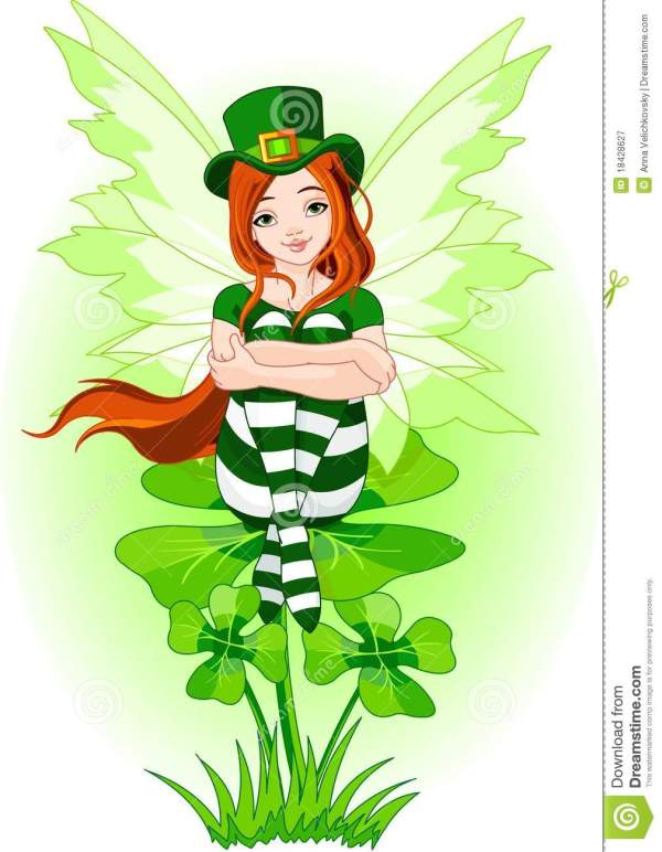 Young St. Patrick's fairy stock vector. Illustration of ...