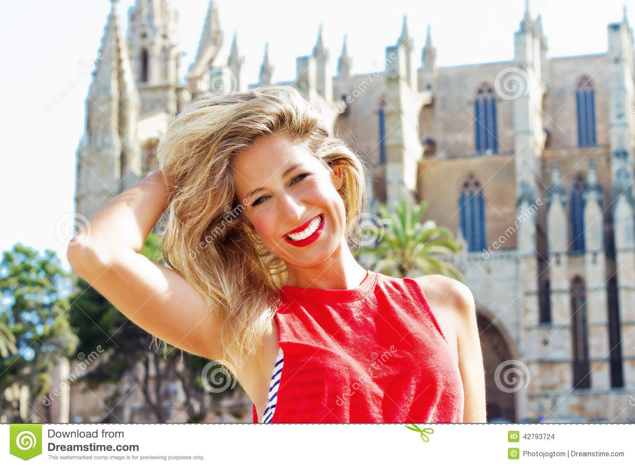 Young Woman In Mallorca Stock Photo Image 42793724