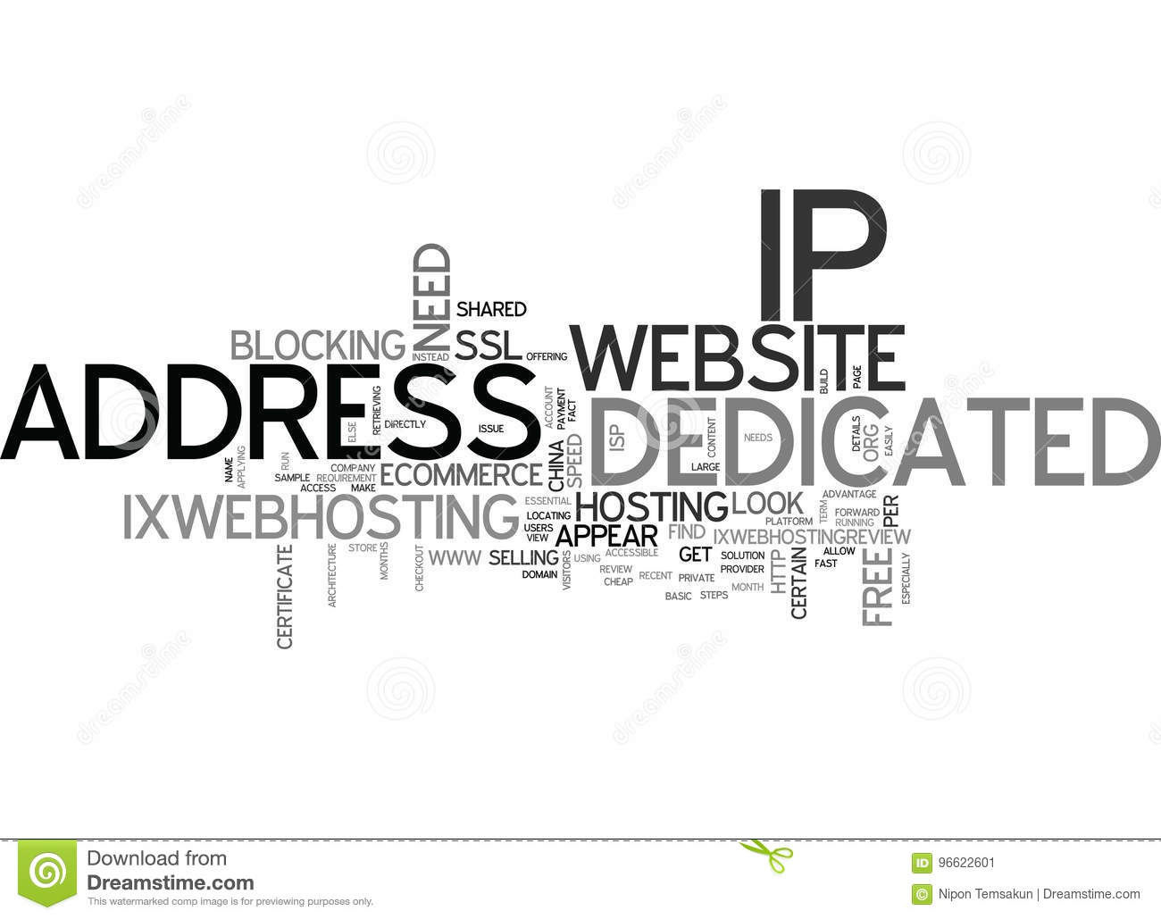 When Your Website Need A Dedicated Ip Address Word Cloud