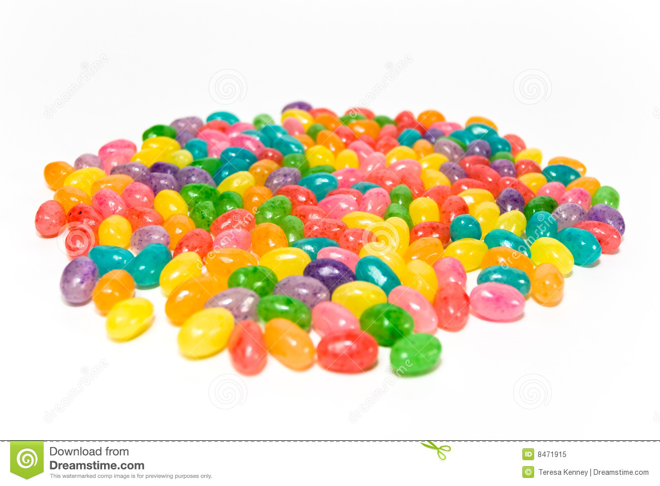 Yummy Jelly Beans On White Stock Image Image Of Colors