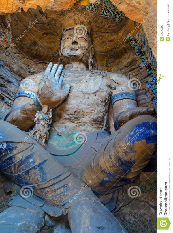 Yungang Grottoes stock image. Image of feature, yungang ...
