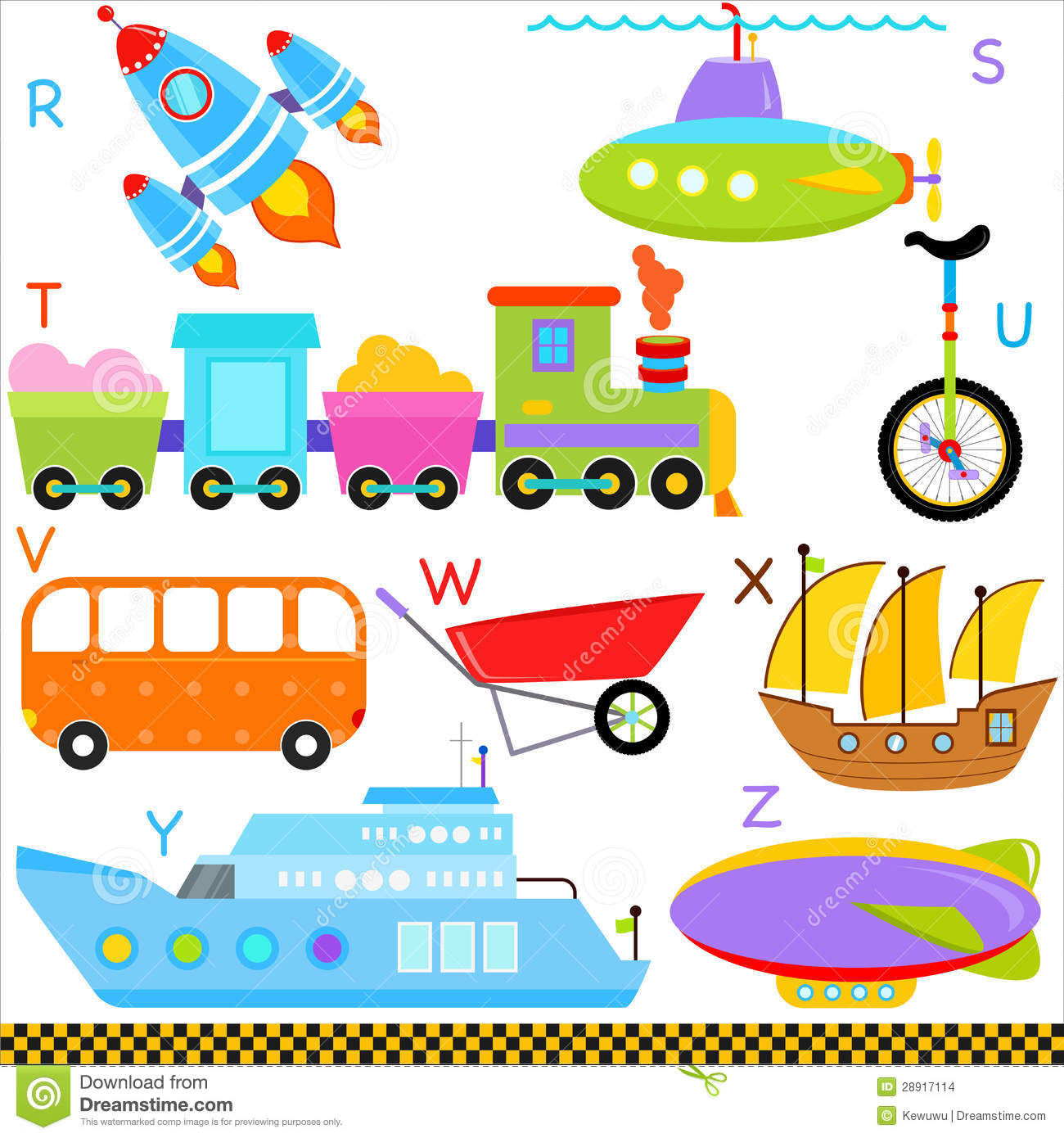 A Z Alphabets Car Vehicles Transportation Stock