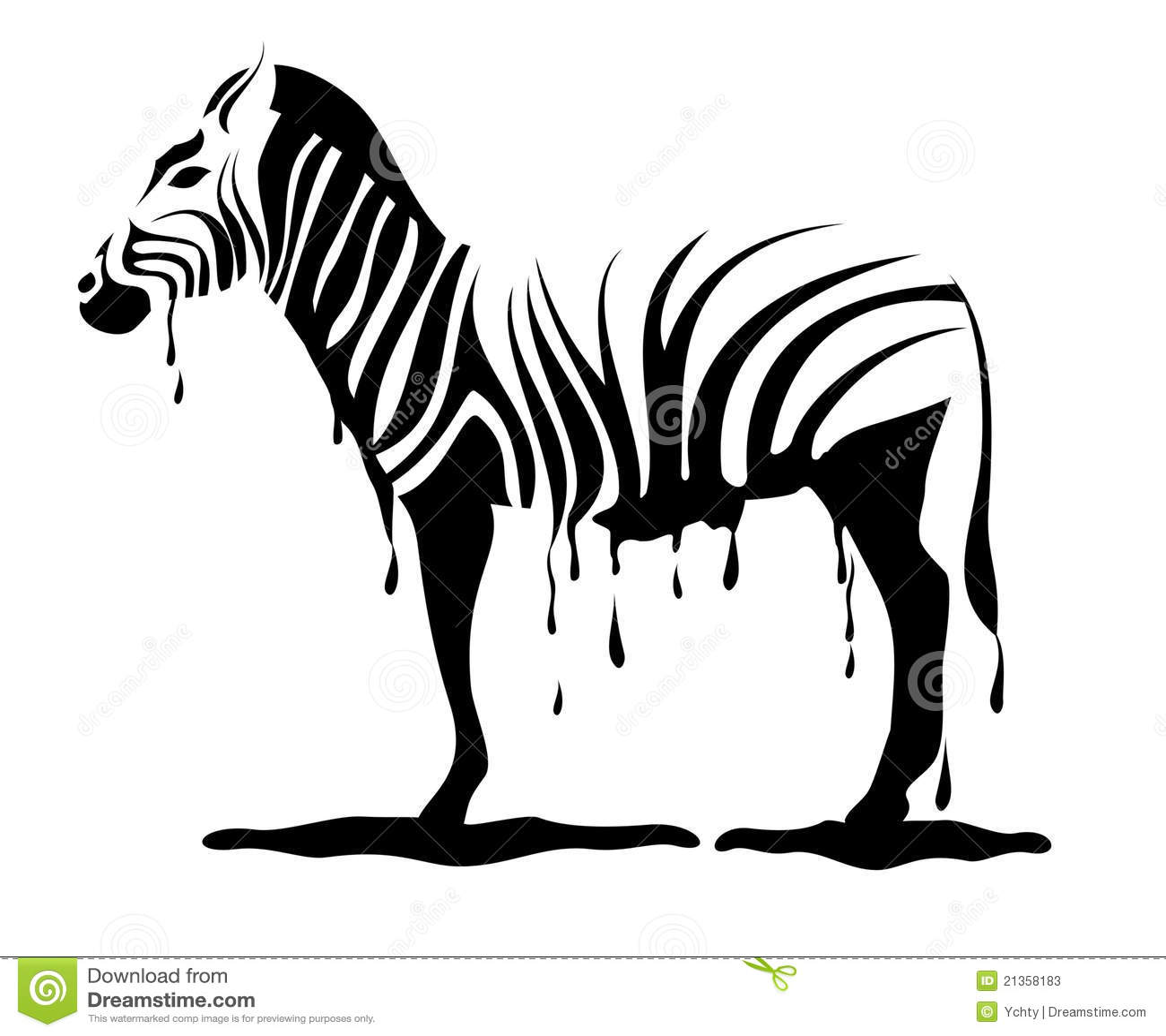 Zebra Loosing Its Stripes In Vector Stock Photos