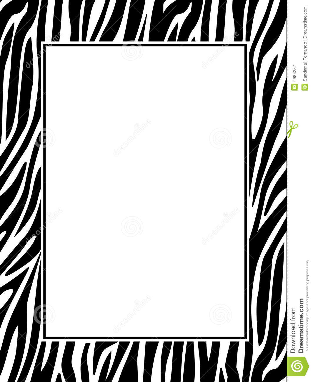 Zebra Print Border Stock Vector Illustration Of Print