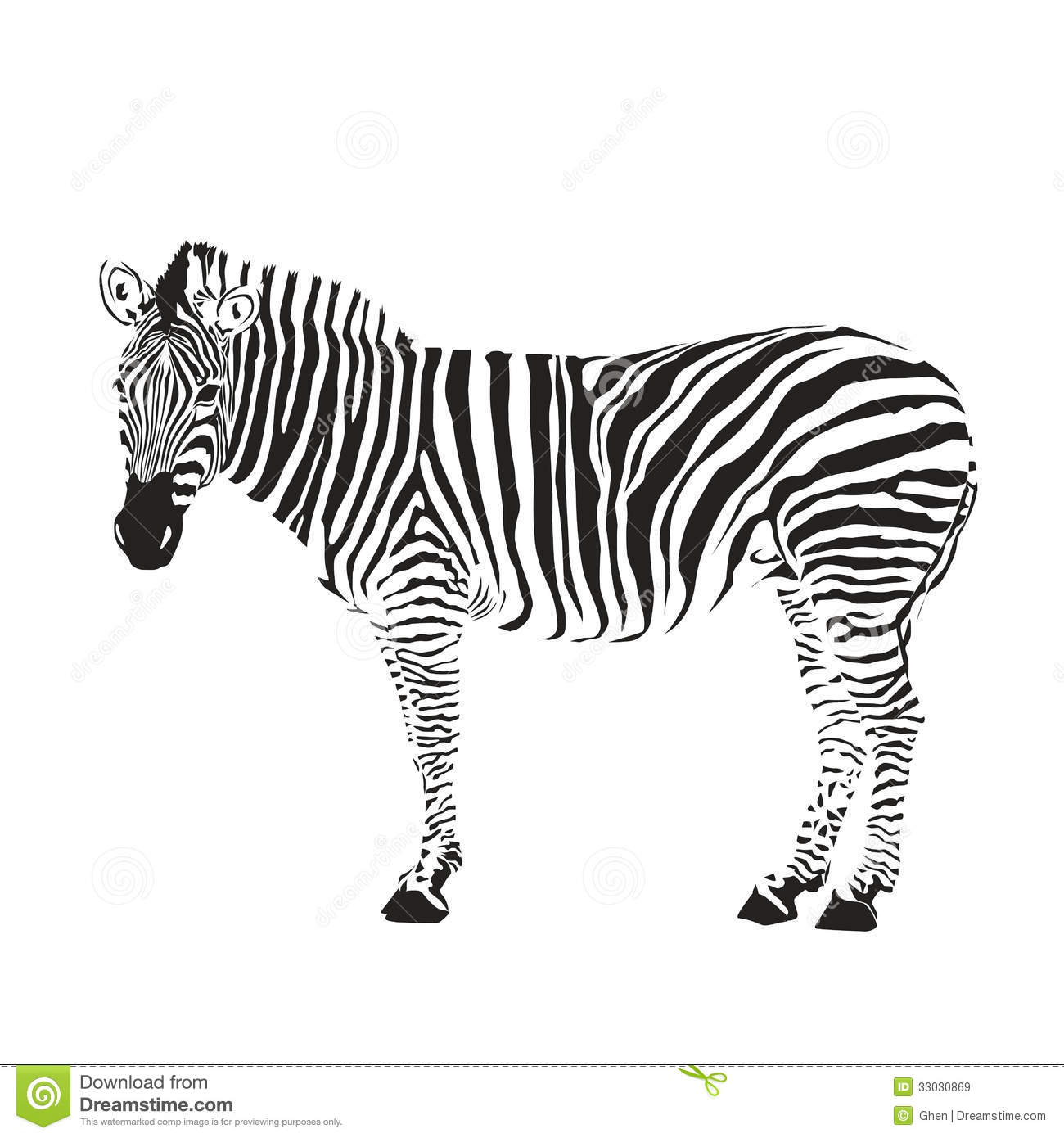 Zebra Silhouette Royalty Free Stock Images