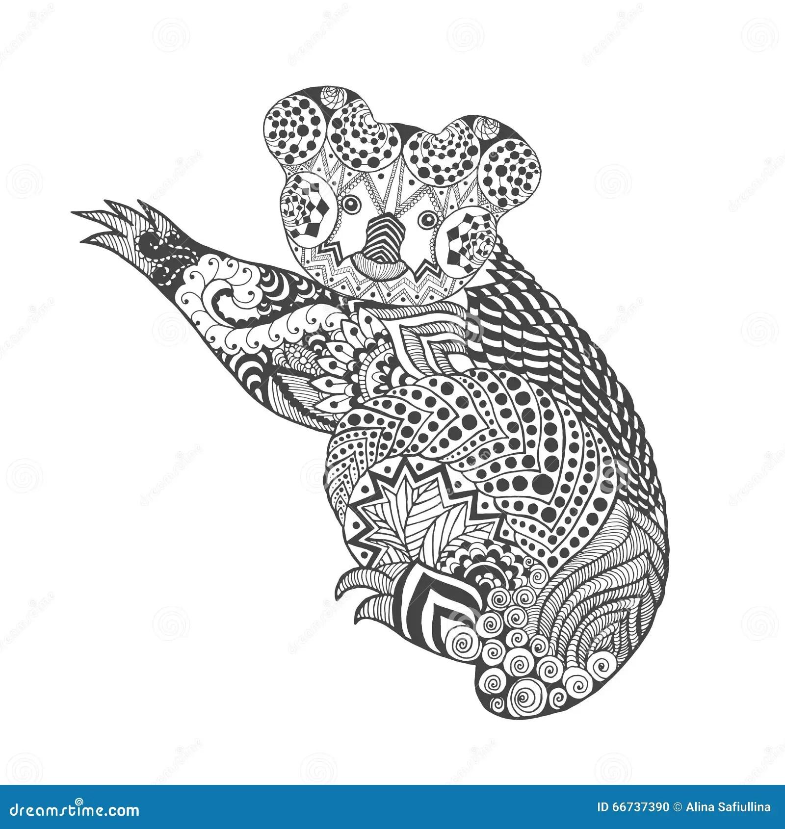 Zentangle Stylized Koala Stock Vector Image Of Bear
