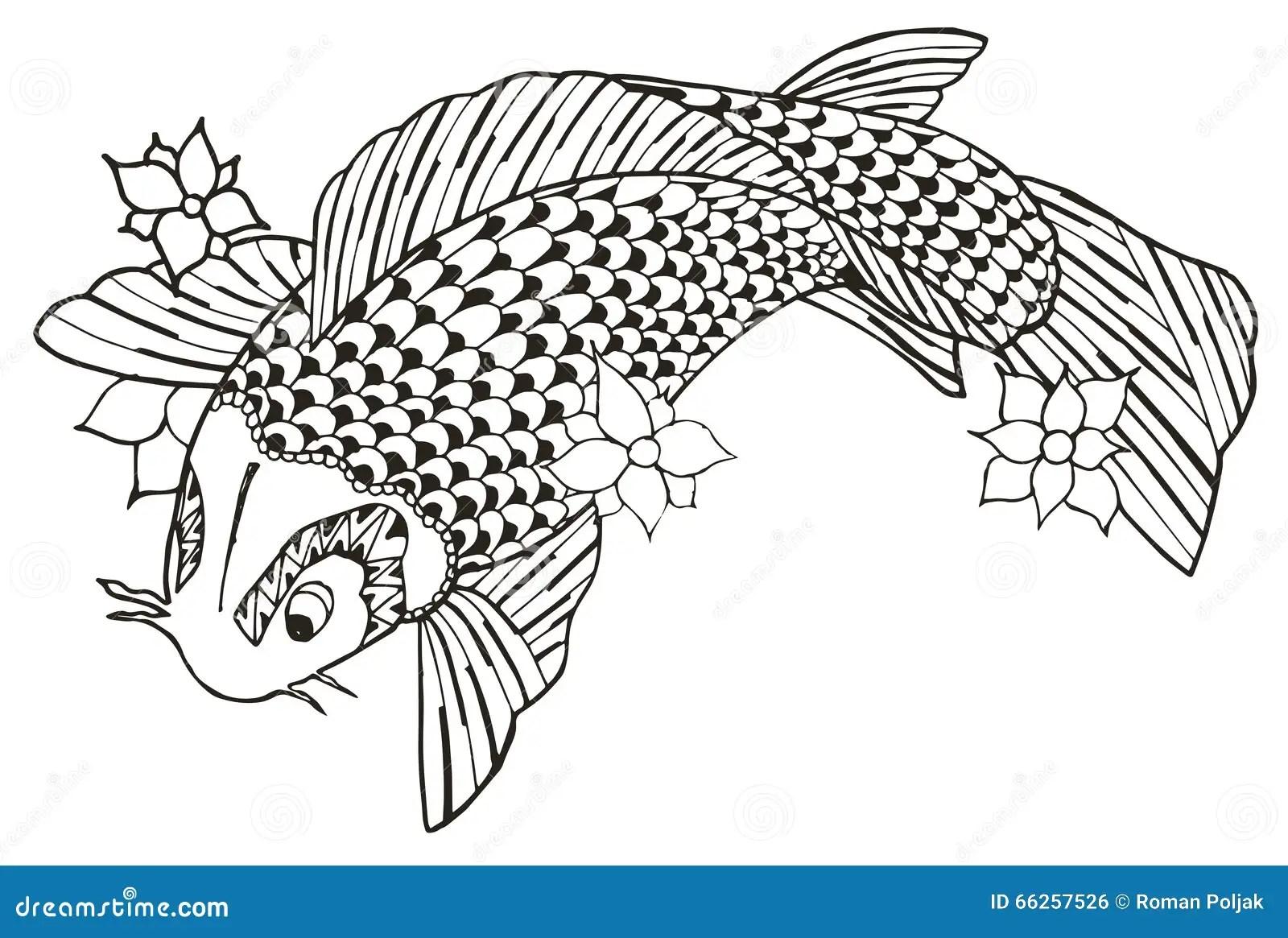 Vector Koi Fish Tattoo Cartoon Vector